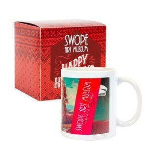 Warm Holiday Wishes Full Color Mug in Gift Box