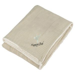 Field & Co.� Cable Knit Sherpa Blanket with Card